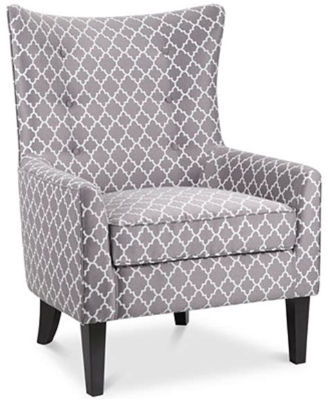 Printed Accent Chair Brie Printed Fabric Accent Chair Direct Ship Furniture Macy S