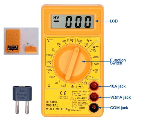 Multimeter Digital Dt830b multimeter dt830b ce with safety design digita multimeter
