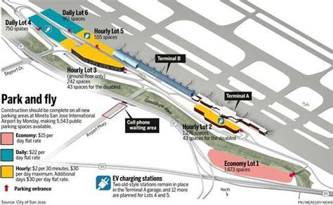 san jose parking map parking makeover nearly complete at san jose airport the