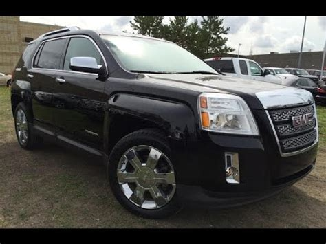 gmc terrain blacked out pre owned black 2011 gmc terrain awd slt 2 in depth review