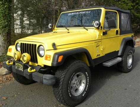 2001 Jeep Mpg Buy Used 2001 Jeep Wrangler Sport Low Mileage Great