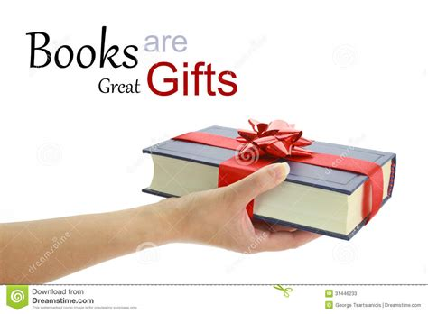 gifts from time and place books holding a book for gift stock photos image 31446233