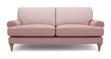 pink dfs sofa dfs itsy pink maxi pattern and plain sofa 100639 ebay