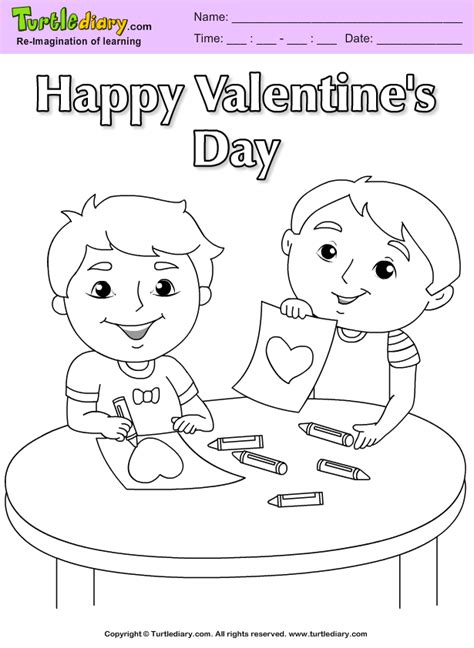 Boys Valentine Coloring Sheet Turtle Diary Boy Valentines Day Coloring Pages
