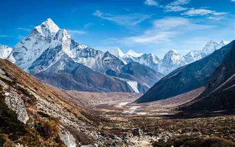 wallpaper mount ama dablam himalayas nepal  nature