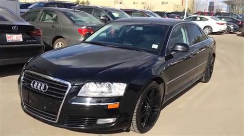 how cars run 2008 audi a8 navigation system used black on black 2008 audi a8 quattro edmonton calgary fort mcmurray youtube
