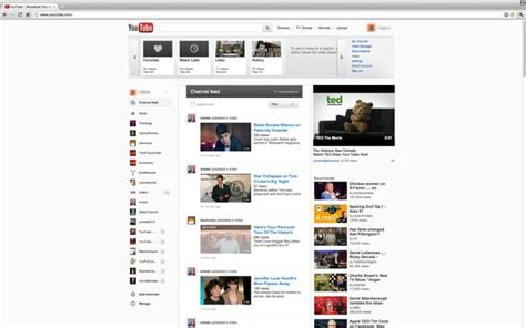 new youtube layout october 2012 youtube tests a new design ubergizmo