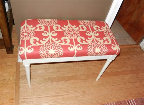 how to reupholster a piano bench diy idea what to do with a piano bench try this easy
