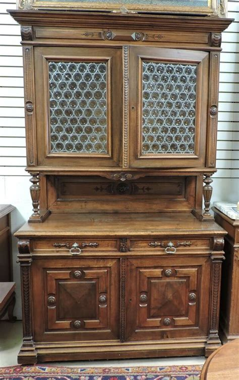 Sideboard With Glass Doors by Antique Provincial Cabinet Sideboard Buffet W