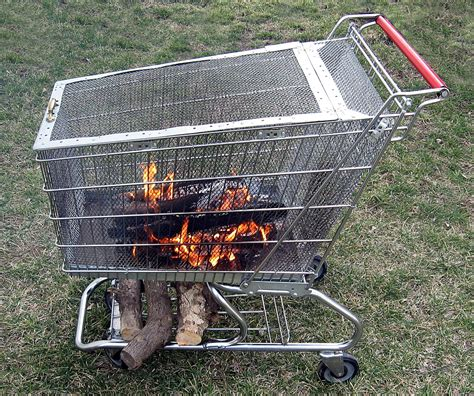 Portable Fire Pit With Built In Log Storage Rack 6 Steps Portable Firepits