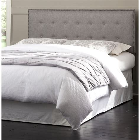 gray headboard full fashion bed easley full queen upholstered headboard in