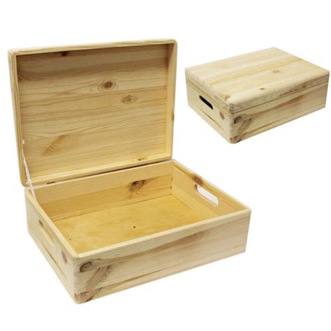Wooden Stands For Vases Medium 15 75 Quot Natural Wood Closet Storage Box With Lid And