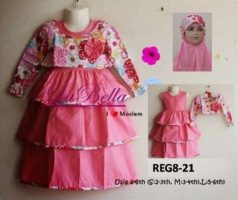 Dress Anak Labella Pink L grosir mukena anak gamis labella susun pink 2 6 tahun