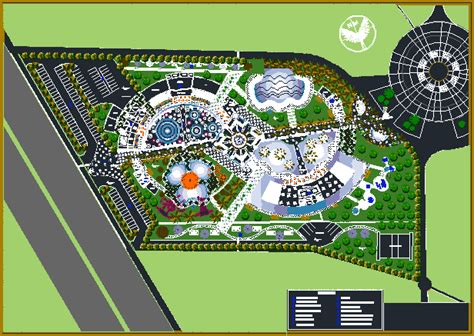 Floor Plan Mall by Recreational Water Park 2d Dwg Design Plan For Autocad
