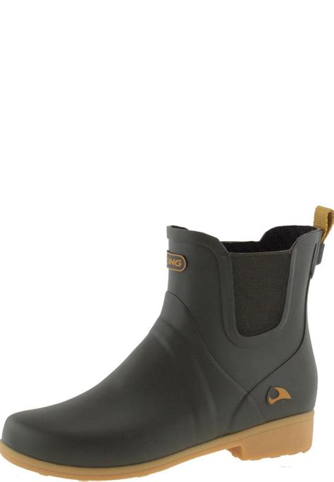 embla green ankle rubber boots by viking