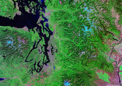 seattle map satellite satellite images of united states cities landsat