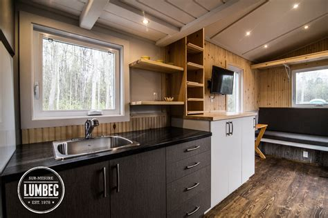 Small Cabin Design tiny house lumbec le projet 2015