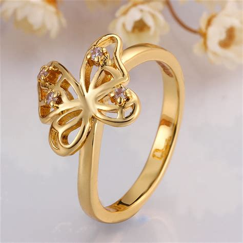 Golden Ring New Design by Wholesale Alibaba New Design Finger Butterfly Gold Ring