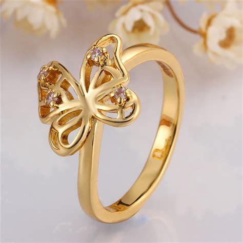 golden ring new design wholesale alibaba new design finger butterfly gold ring