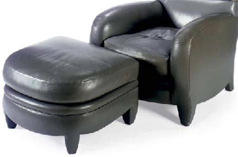 gray leather chair and ottoman a contemporary grey leather chair and ottoman by angelo