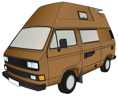 volkswagen bus art van clipart cliparts co