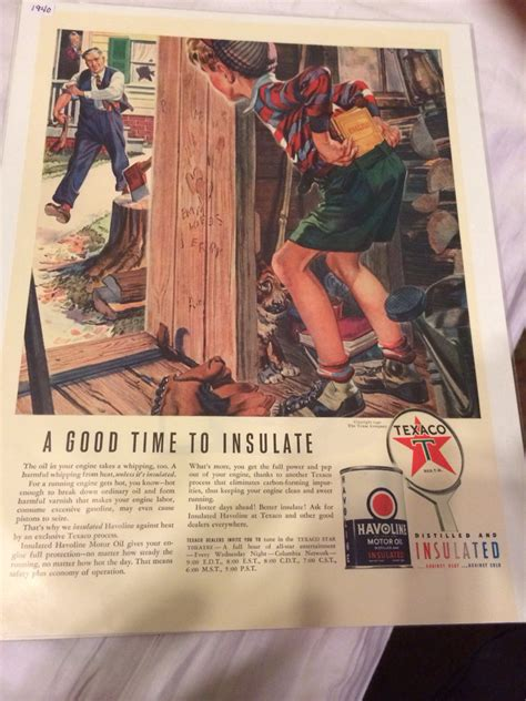 The Whip Shed by 1940 Texaco Dealers Ad Whipping Child Wood Shed From