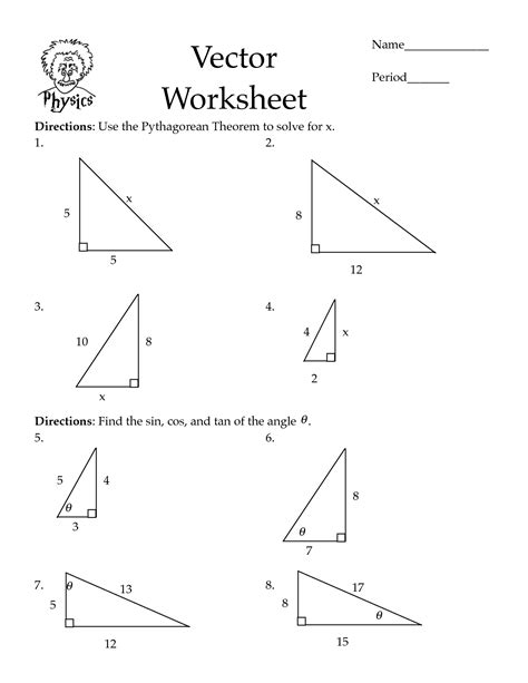 The Pythagorean Theorem Worksheet Answers 9 best images of pythagorean theorem word problems