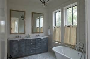 Gray Shiplap Wall Blue Gray Subway Tiles Cottage Bathroom Liess