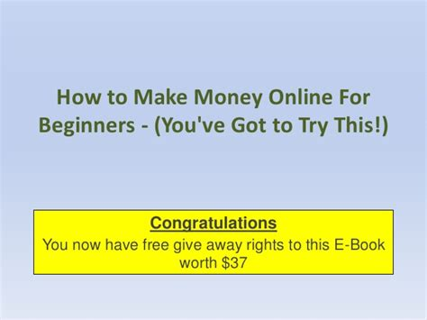 How To Make Money Now Online For Free - how to make money online for beginners