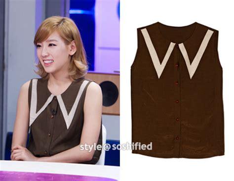Blouse Taeyeon soshified styling taeyeon debb