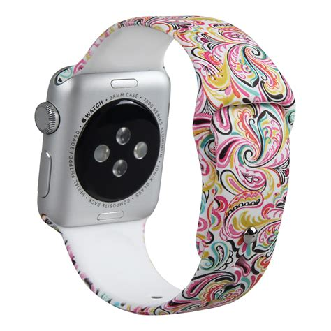 Durable White Silicon Band For Apple 38mm band for apple muilt color replacement wrist band soft durable silicone band bracelet for