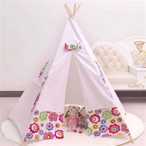 Tenda Anak Indoor 100 cotton teepee kid tent fabric houses to play