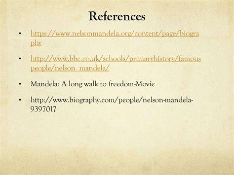 nelson mandela biography references nelson mandela online presentation