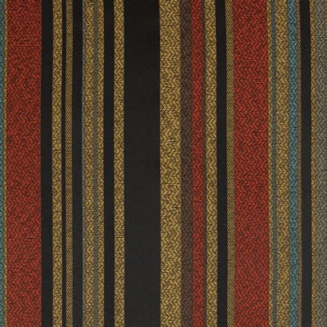 Jacquard Upholstery Black Red And Black Stripe Upholstery Fabric