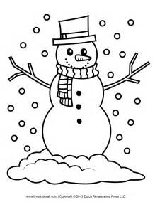 snowman coloring page free snowman clipart template printable coloring pages