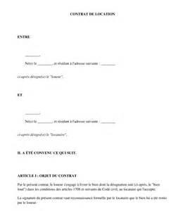 contrat de location entre particuliers mod 232 le