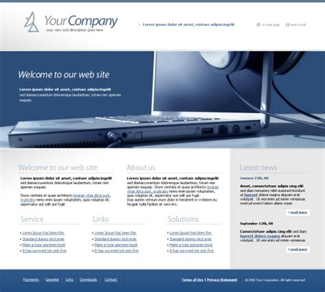 Glass Beam Css Template 4279 Computers Technology Website Templates Dreamtemplate Glass Website Templates