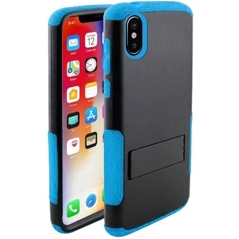 apple iphone xr by insten rugged snap in cover w stand for apple iphone xr