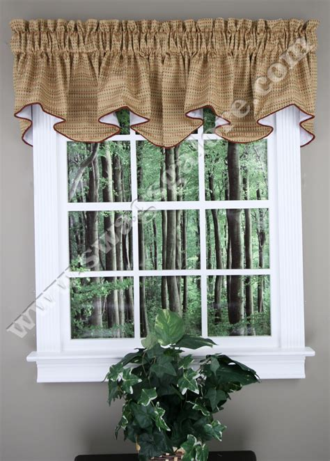 Swags Galore Valances Tyler Lined Valance With Cording Crystal Stylemaster