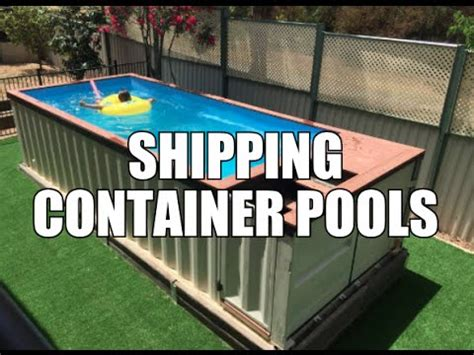 Sleep Out Floor Plans by Shipping Container Pools Youtube