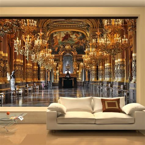 Large 3D wallpaper mural European minimalist living room