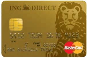 carte gold mastercard gratuite 183 ing direct