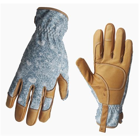 Garden Gloves by Shop Style Selections S Large Beige Turquoise