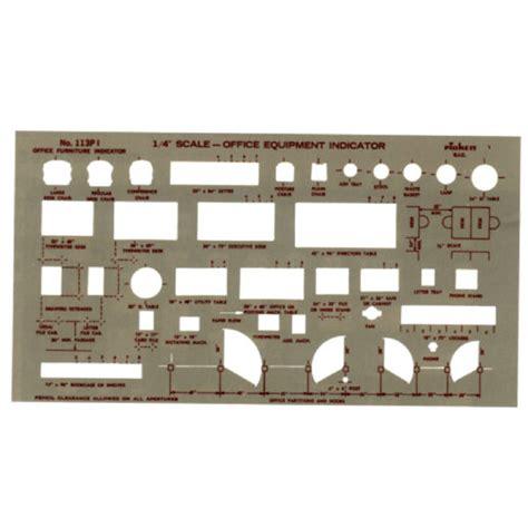 Pickett 188 Quot Office Equipment Indicator Template 113pi Pickett Drafting Templates