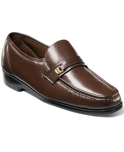 florsheim loafers for florsheim riva moc toe loafers in brown for lyst
