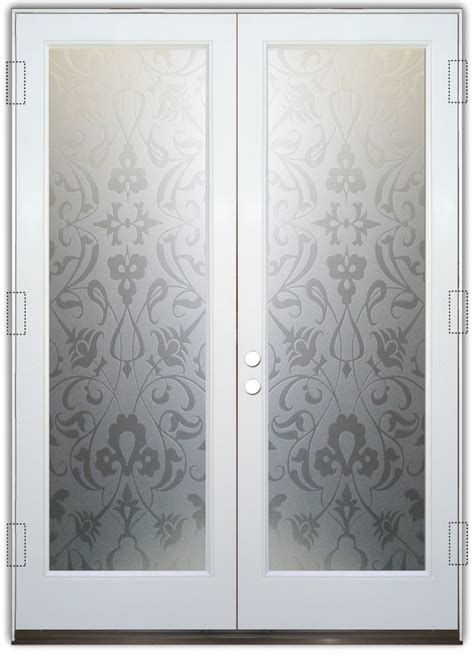 floweret 2d pair etched glass doors style