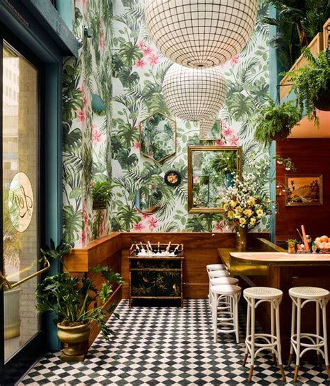 12 restaurants and bars with new age tropical decor on