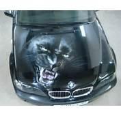 Car Painting Airbrushing Hood BMW Panther Puma Black