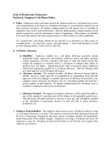 cell phone policy template best photos of templates for employers screen phone