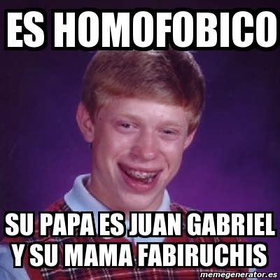 Juan Gabriel Meme - meme bad luck brian es homofobico su papa es juan
